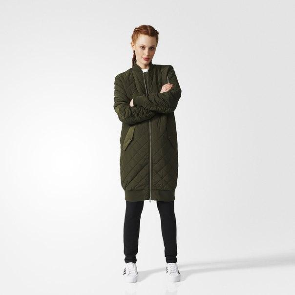 Утепленная куртка-бомбер Long