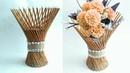 Newspaper flower vase   flower vase making   newspaper craft   HMA170