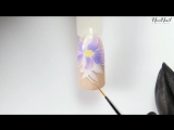Мастер-класс - Нежный, свадебный маникюр в оттенках лаванды - NeoNail