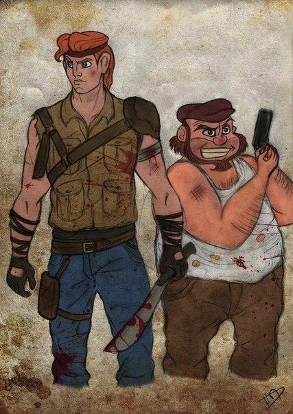 Если бы герои Диснея пережили нашествие зомби