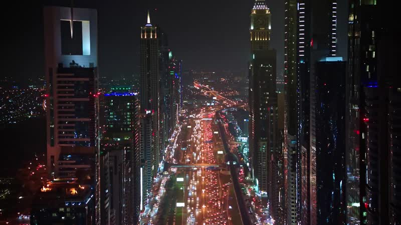 Dubai Canal - Aerial Video