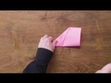 Как сложить бумажный самолётик, поставивший мировой рекорд по дальности полета (69 метра)