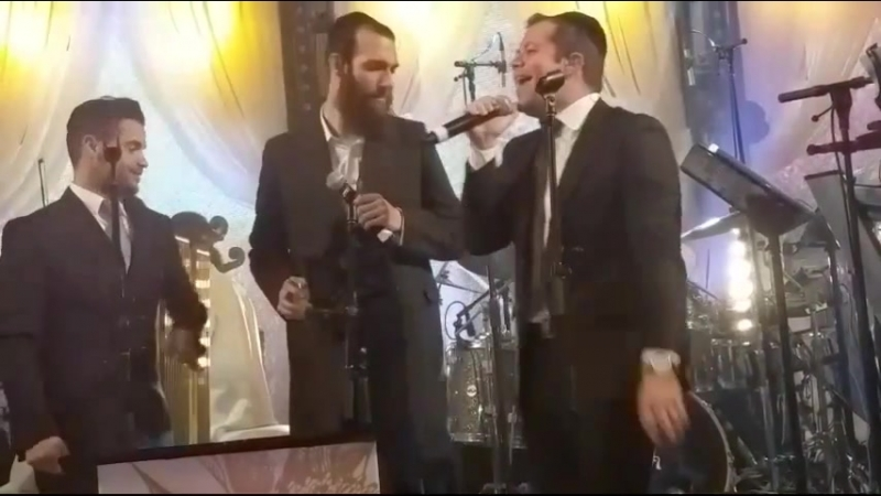 Simcha Leiner Itzik Dadya Beri Weber sing at Epic Wedding