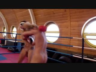 Nude boxing! eva vs mel - fighting dolls - [fd3085] - sample