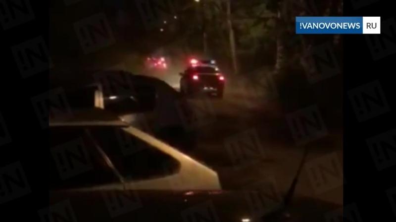 Иваново 17 08 2018 Пьяный на Гранте уходя от полиции разбил им 5 машин Стреляли по колёсам