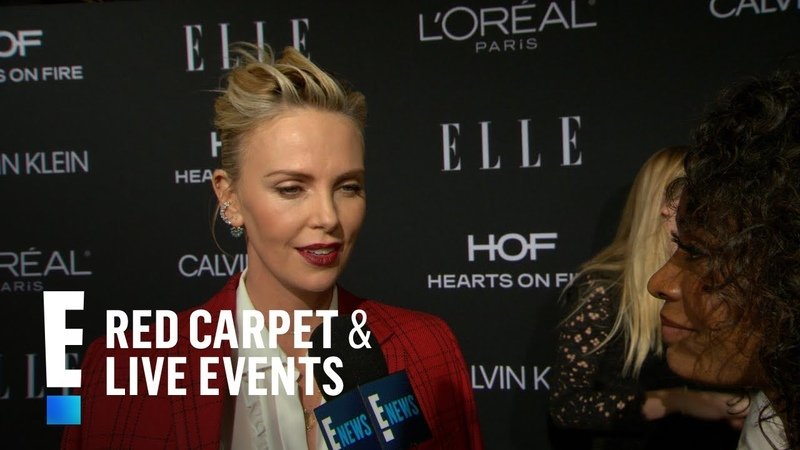 Charlize Theron Spills on Being Honored at Elle Event | E! Red Carpet Live Events