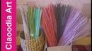 Jak malować rurki z papierowej wikliny? 1 (how to paint wicker paper tubes)