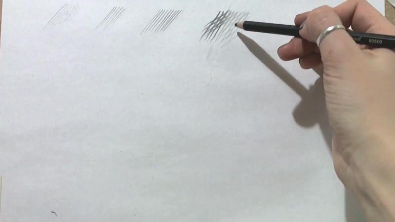 1.2 Изучение правильного положения руки во время рисования, и двух вариантов хвата карандаша. -Основные правила штриховки. Такж