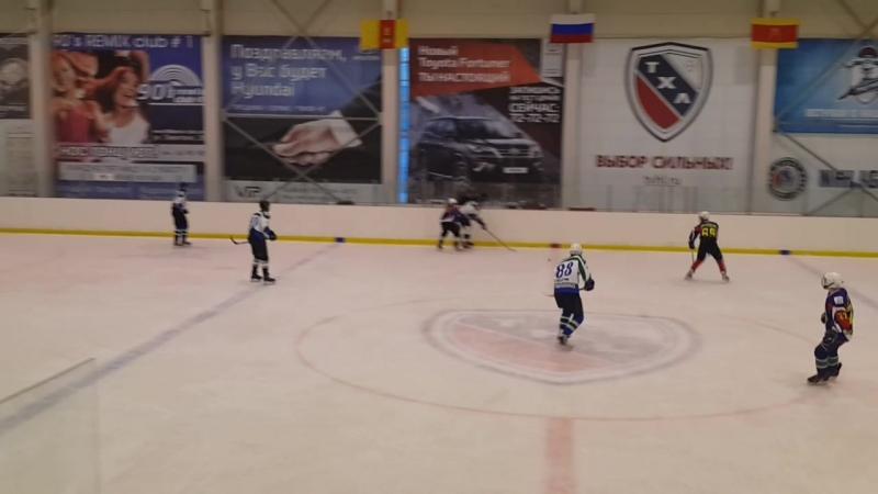 (Часть 1) Вторая игра четверть финальной серии плей-офф открытого первенства города ТХЛ ХК «ВА ВКО» 8 - 1 ХК «Бумажник»