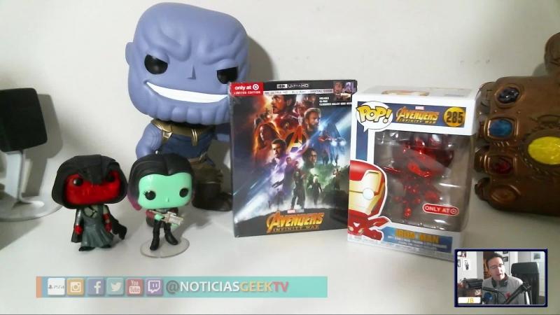 Unboxing: El DVD De Avengers Infinity War Libro Detras De Camaras Y Funko Cromado De Iron Man