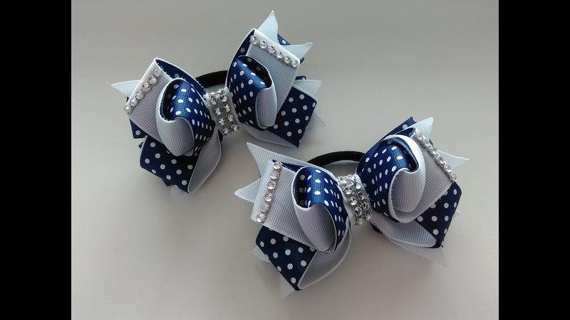 Бантики из репсовых лент 2,5 см МК Канзаши The bow of REP ribbons 2.5 cm MK Kanzashi