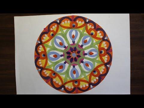 Орнамент в круге. Мандала рисунок. Секрет успеха. Видео урок.