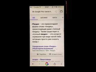 OK, Google! Что такое Пиздос)))