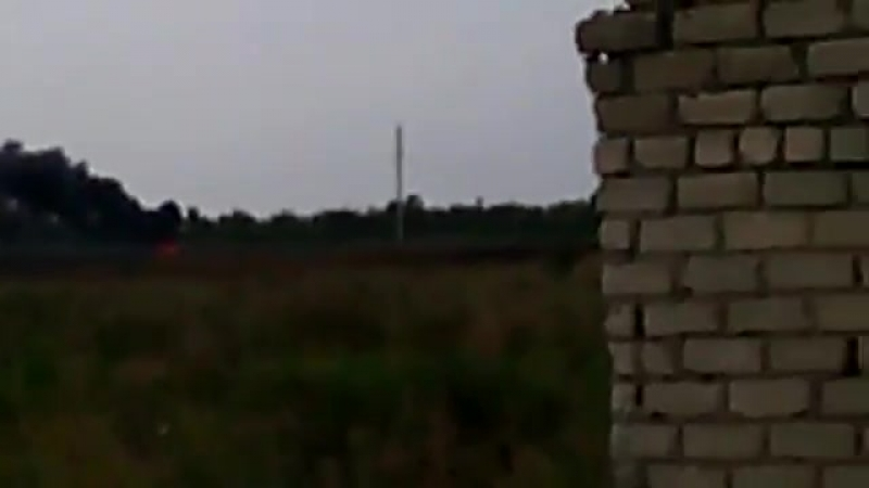 КСОВД сжег укровский КАМАЗ с БК в Грабском 11.08.2014 15-15