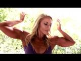 muscle girl posing
