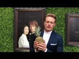 Outlander superstar Sam Heughan accepts Best Actor Award from Gold Derby