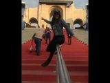 Nina Dobrev on Instagram- Slip and Slide @rams Style.