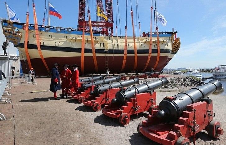 Линейный корабль «Полтава» спущен на воду