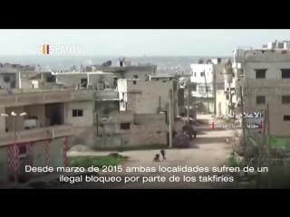 Terroristas bombardean las asediadas aldeas Kafraya y Al-Fua