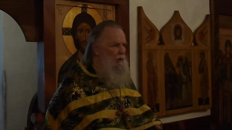 Священник Павел Адельгейм Проповедь в храме свв Жён мироносиц Псков 20 7 2013