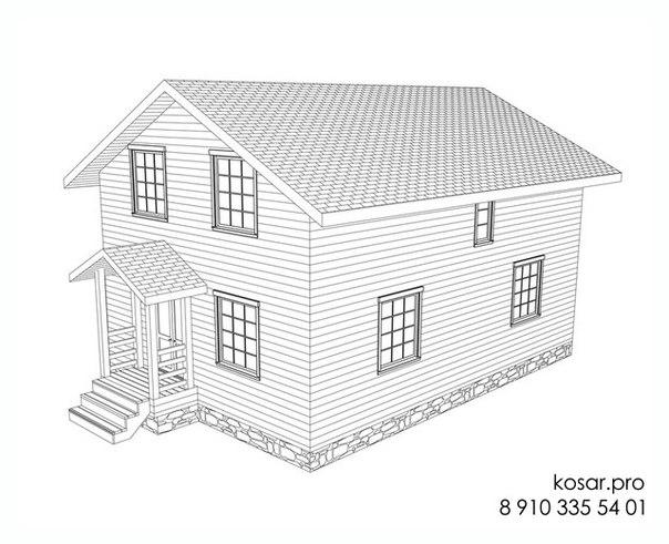 Одноэтажный дом с мансардным этажом 5007