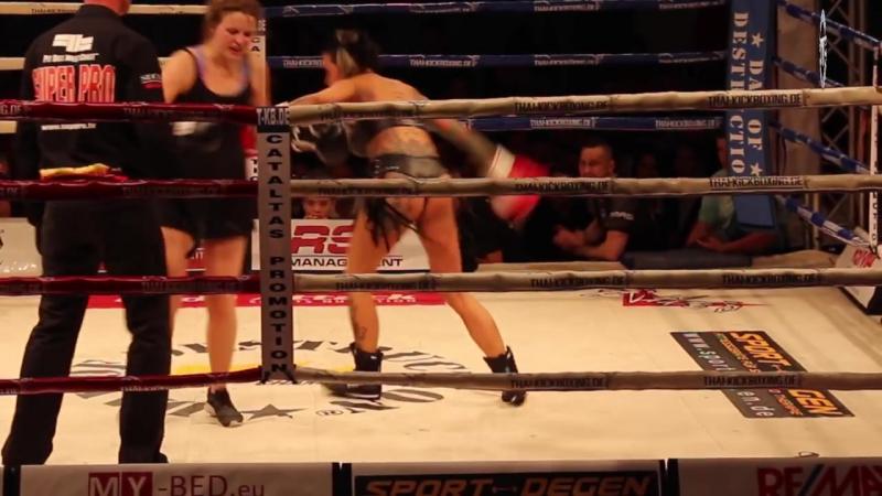 Lingerie Boxing at Day of Destruction 11 - Lia Joyce vs Carolin Ott