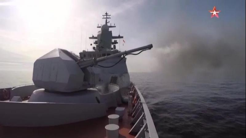 « Бойкий » выполнил стрельбы и провел тренировку с палубными вертолетами