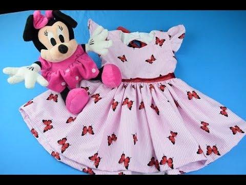 Como hacer un Vestidos Para Niñas 6 -18 meses