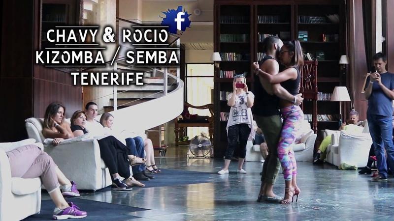 Chavy Rocio, from Tenerife, dancing Kizomba Fusión in Kaliningrad, 2018
