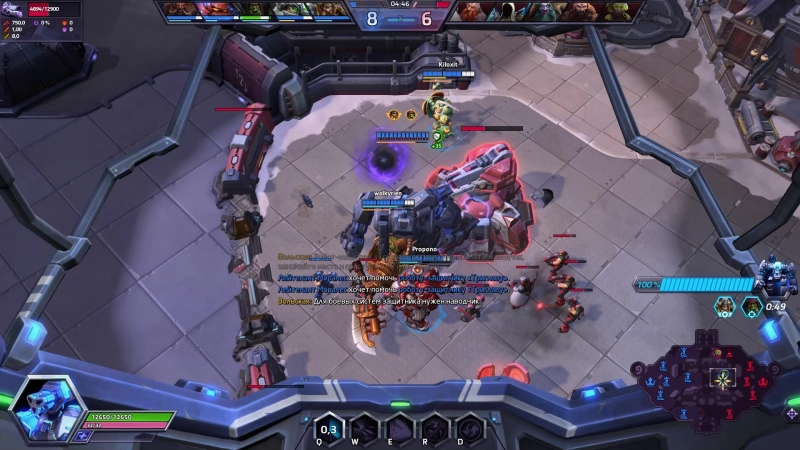 HotS shinegami9 versus a team with 4 healers