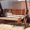 Садовые качели из дерева Сенди Sendiwood
