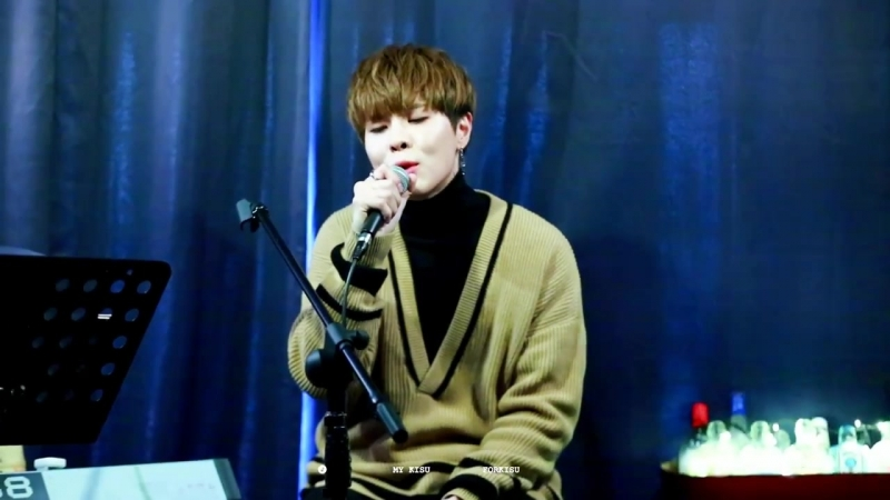 [FANCAM][11.02.18] SOO cover - 다행이다 (이적) @ Makestar Fanmeeting at Hongdae