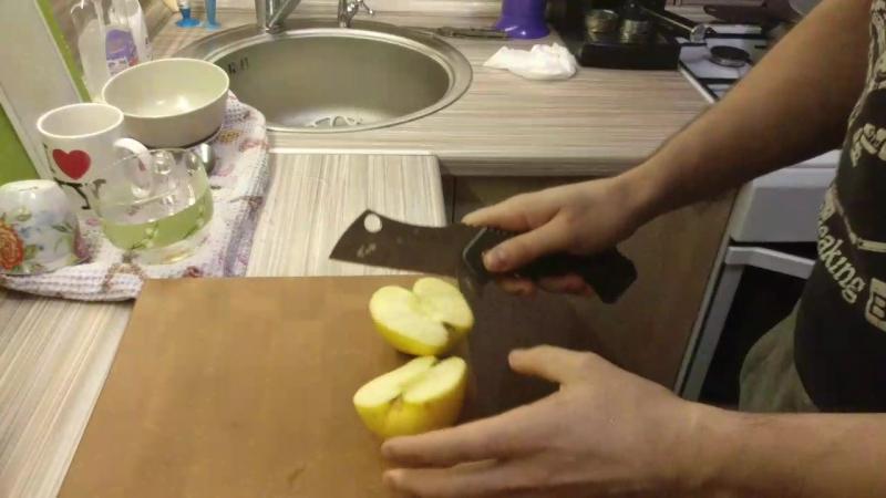Тяпка. Тест яблоком