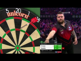 Rob Cross vs Michael Smith (2018 Premier League Darts / Week 5)