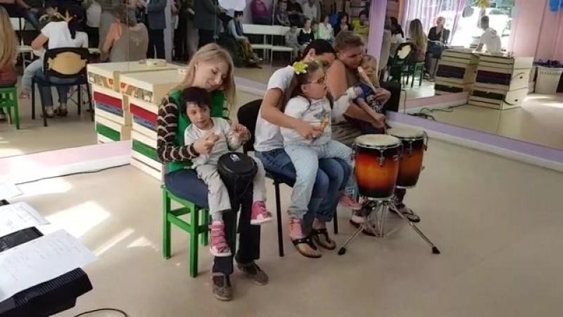 Выступление Стефании, Сони и Стёпы на дне открытых дверей в ЦРиАФ
