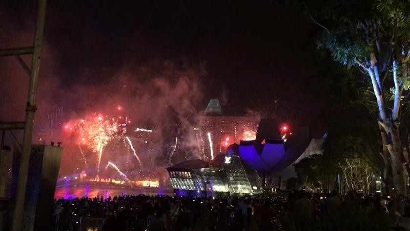 Fireworks on Marina Bay