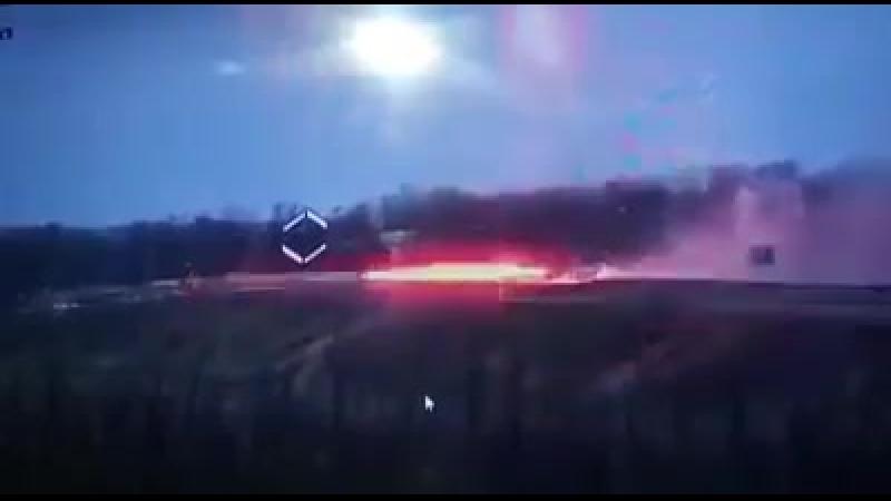 Украина-ЛДНР.Архив.ЗУ-23-2 работает по блиндажу ВСН в районе Старомихайловки
