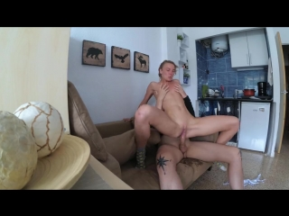 Саша с приятелем -  sasha bikeyeva - very hot fuck, squirt and cum face
