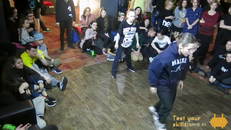 Test Your Skillz: GAME 01 hip-hop 2x2 teacher student 1/8'' Lizetta Юла vs Sasha Цеплуха » Freewka.com - Смотреть онлайн в хорощем качестве