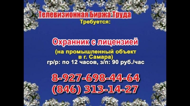 31 мая _19.20_Работа в Самаре_Телевизионная Биржа Труда
