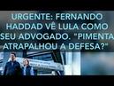 VÍDEO 5104. URGENTE: FERNANDO HADDAD VISITA LULA NA PRISÃO, NA QUALIFICAÇÃO DE SEU ADVOGADO.