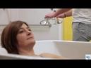 Sistema di sollevamento a binario per accesso diretto al bagno dalla camera
