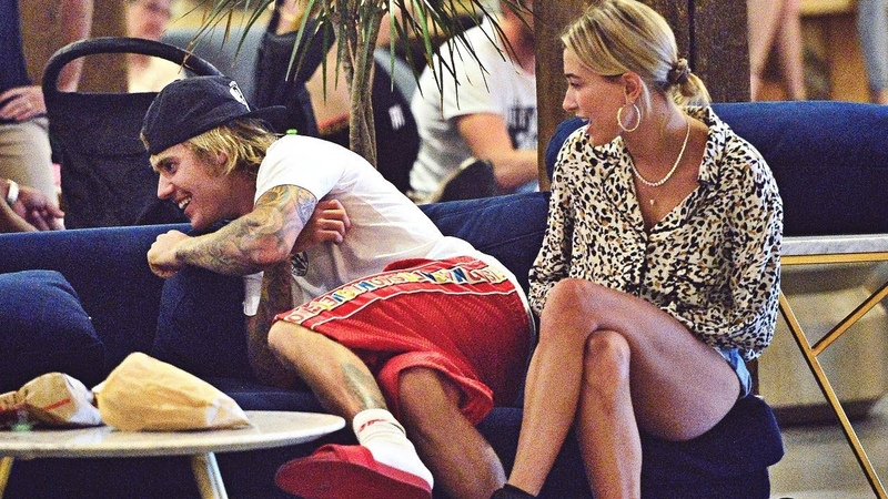 Justin Bieber and Hailey Baldwin spotted at Cecconi's restaurant in Dumbo, Brooklyn. (June 17, 2018)