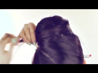 ★cute hair bun - school hairstyles for medium long hair tutorial - retro 60s buns party updos