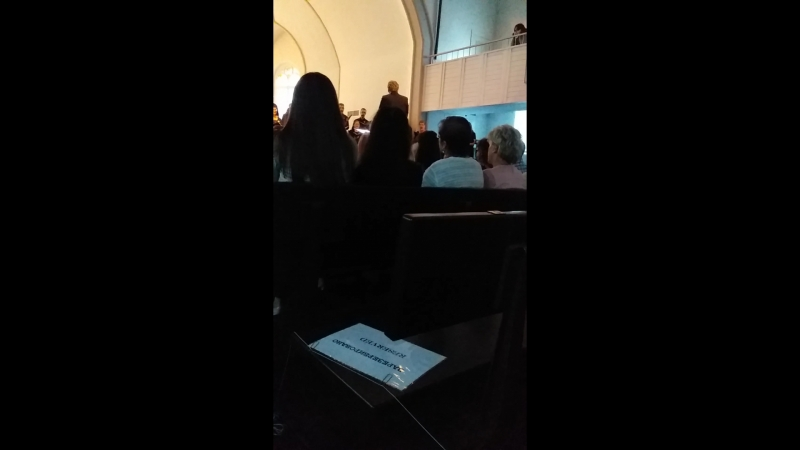 20180711 192806 Концертный зал Яани Кирик Эстонская церковь святого Иоанна Вечер хоровой музыки хоры из Канады 11 07 18г