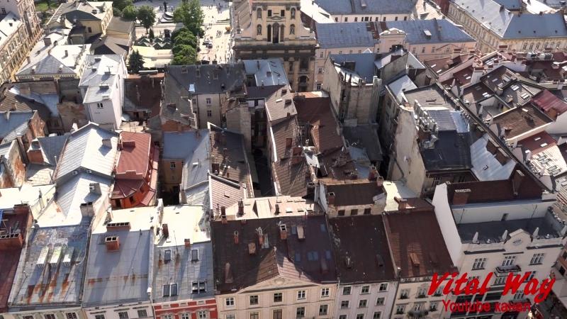 Львов 2018 с высоты городской ратуши - видео обзор Виталия Пискуна