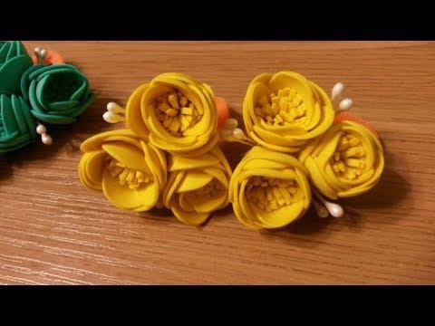 Простые цветы из фоамирана.