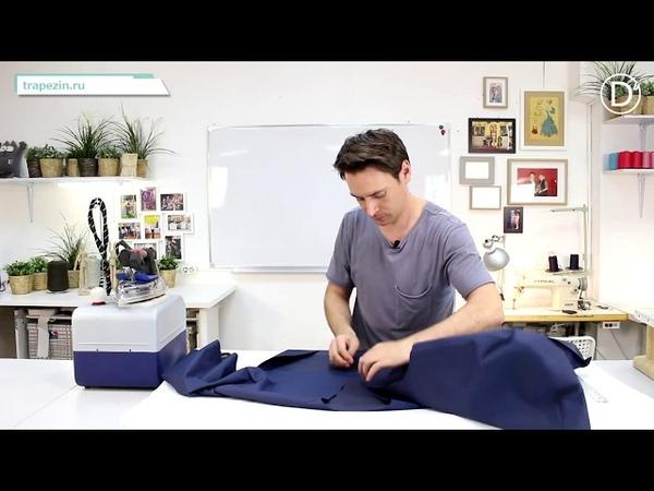 Практический Урок №40. Куртка Анорак. Сборка основных деталей. Втачивание рукава реглан и капюшона.