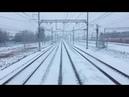 Прибытие поезда на станцию Санкт-Петербург главный «Московский вокзал»