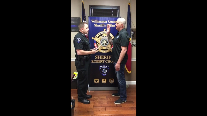 Today I had the honor of swearing in our Honorary Deputy Dustin Rhodes @Goldust He is now